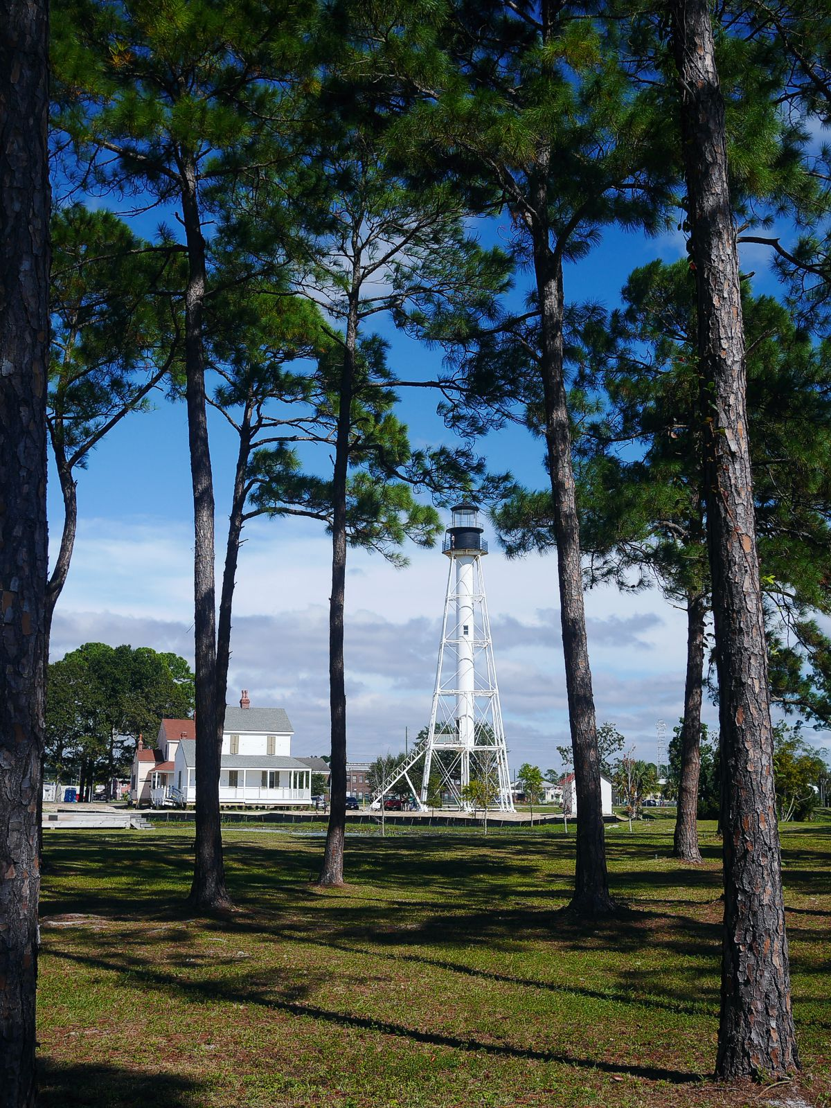 Cape San Blas Lighthouse in George Core Park located in Lighthouse Park in downtown Port St. Joe
